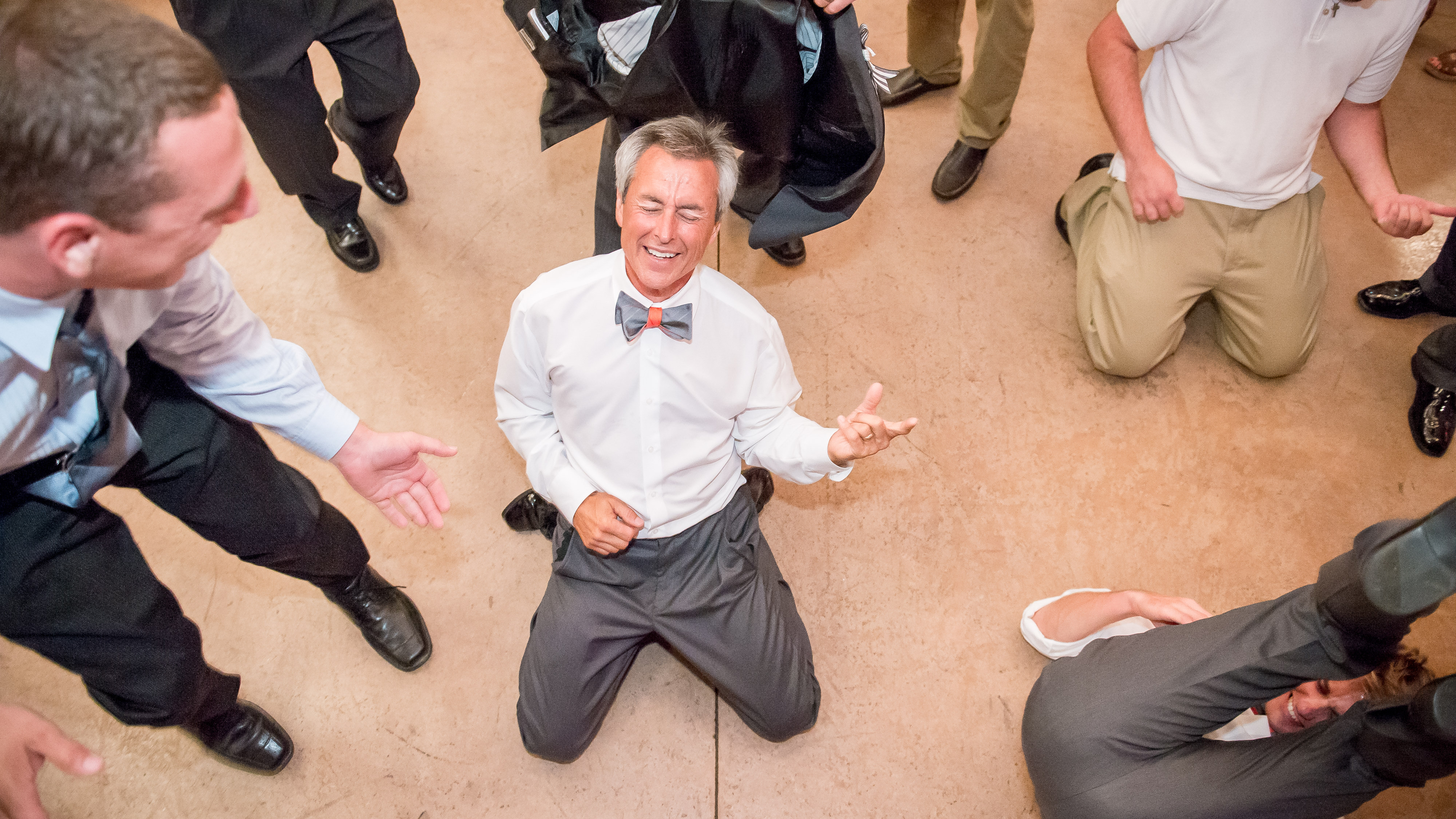 Funny Dads on the Dancefloor at a wedding