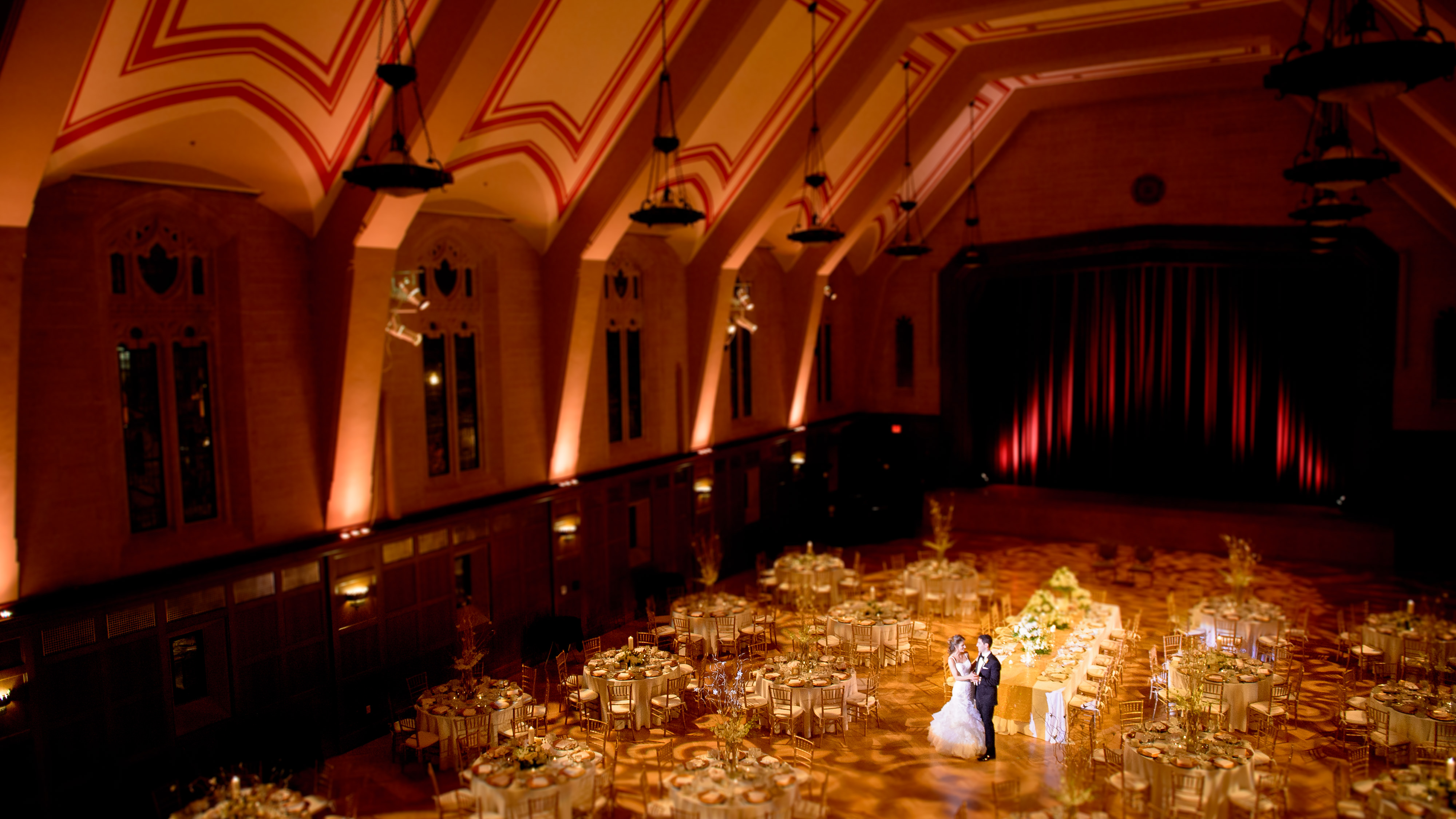 Beautiful minimalist wedding venue portraits