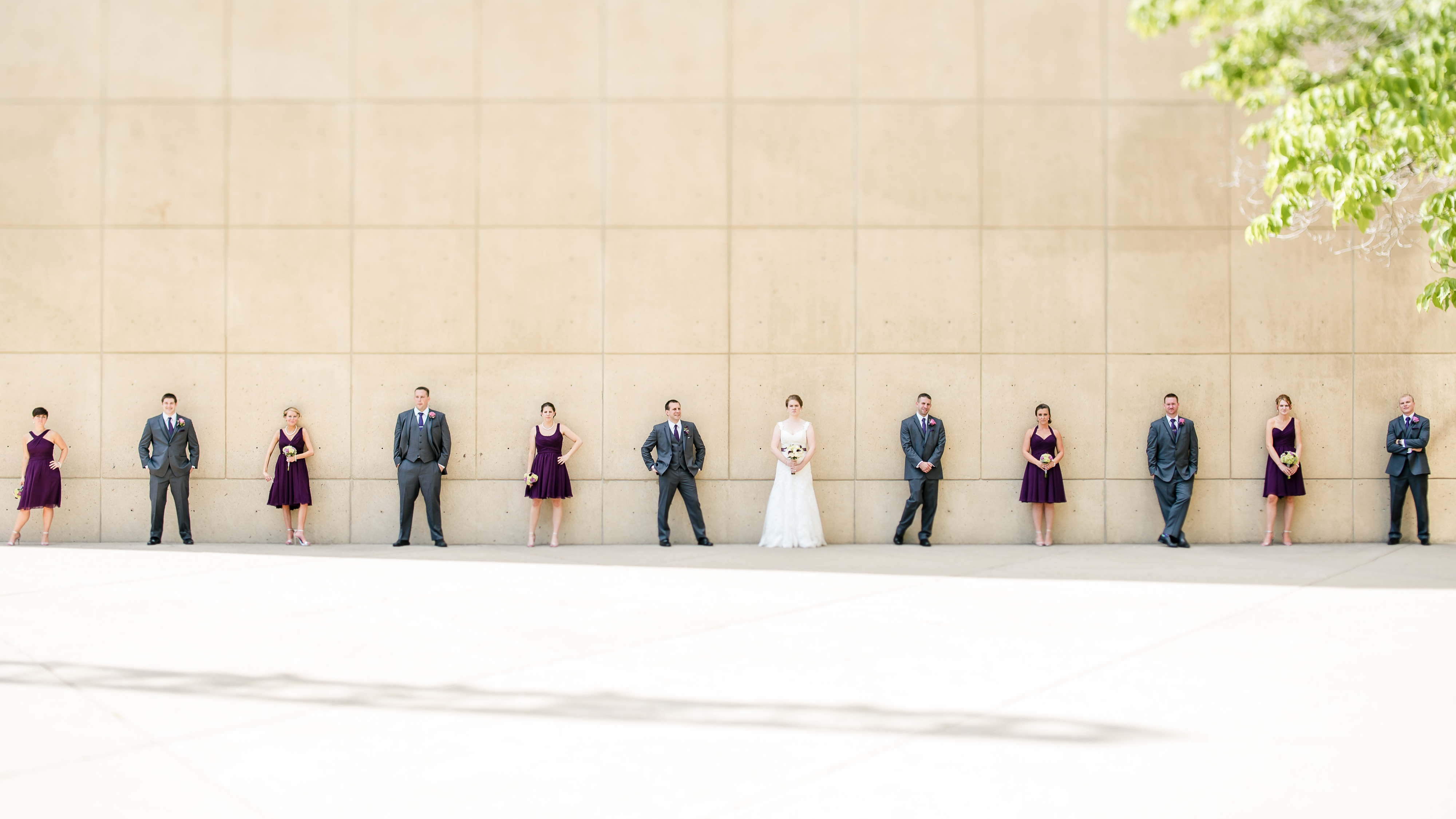 Minimalist wedding party photos and portraits