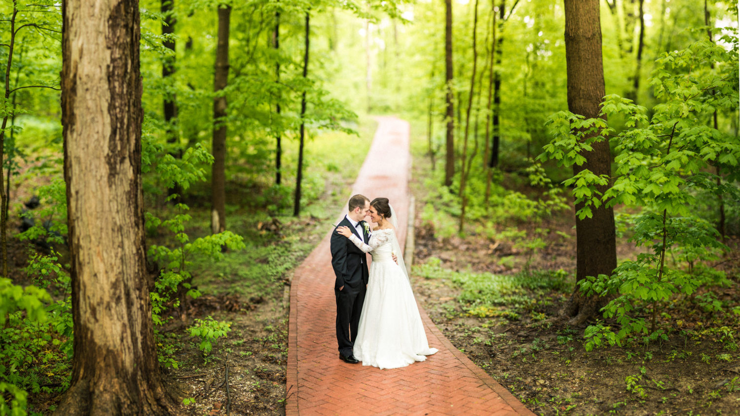 Lovely wooded wedding photograph