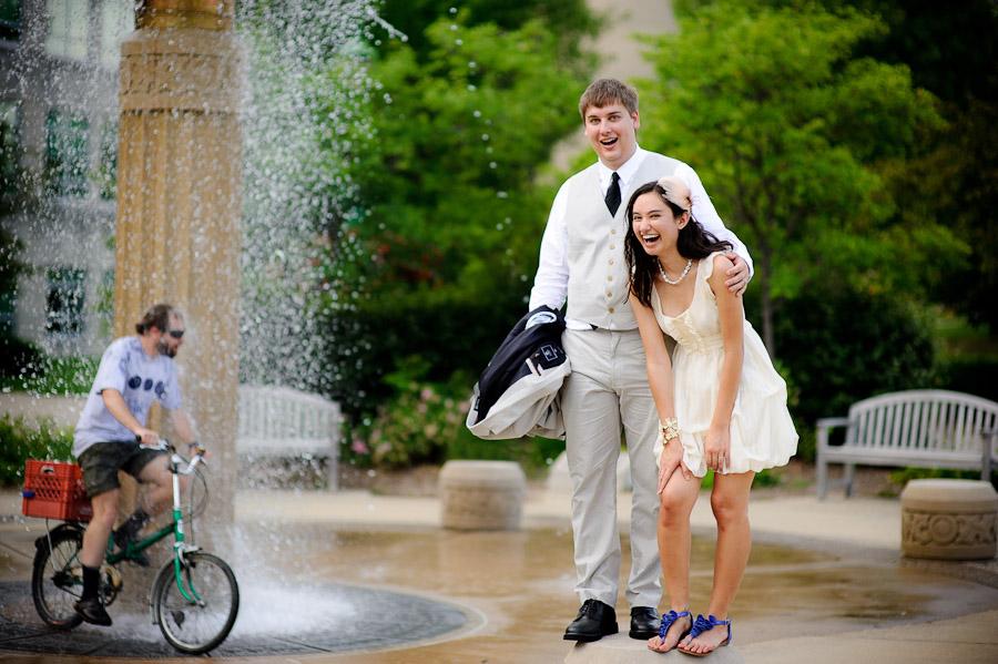 Indiana University Wedding Portrait