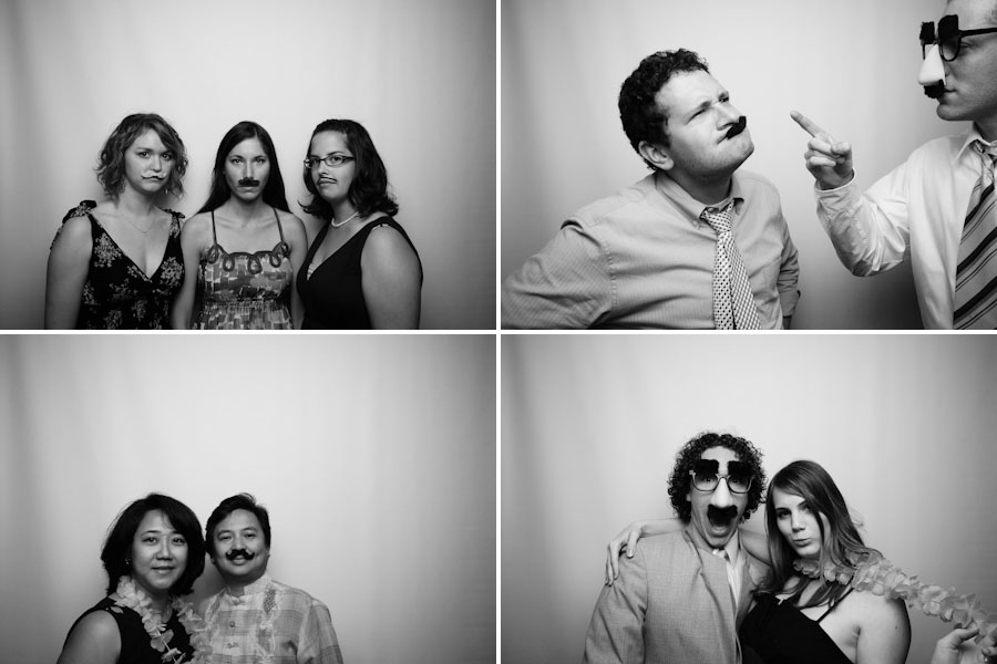 Josh and Mika's Funny Moustache Photobooth from their Bloomington Wedding