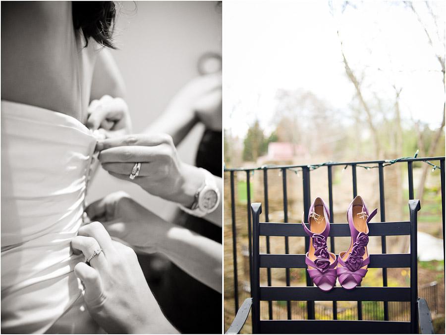 fine creek wedding prep