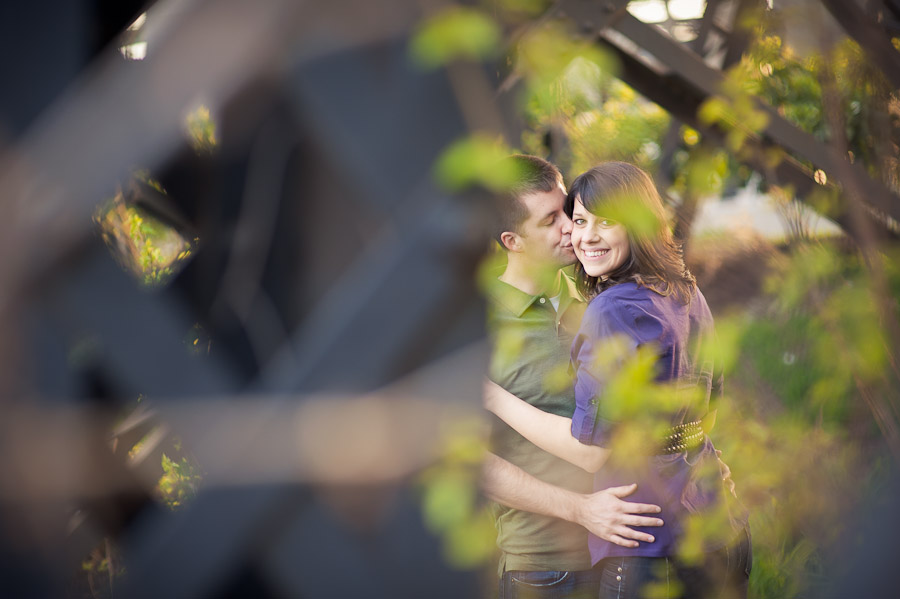 Downtown Richmond Engagement Photos Near the Old Train Station