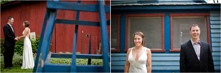 portraits of bride and groom at the story inn in brown county indiana