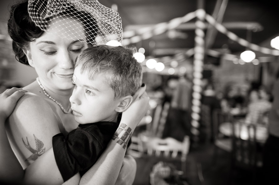 sweet moment of mother and son at wedding