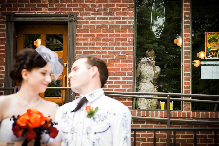 quirky wedding portrait a picture of someone taking a picture