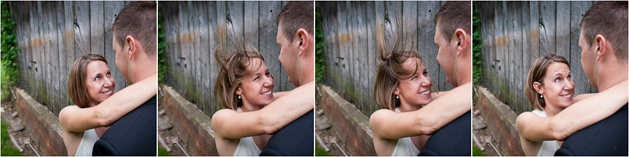 funny windy sequence of bride's hair at wedding