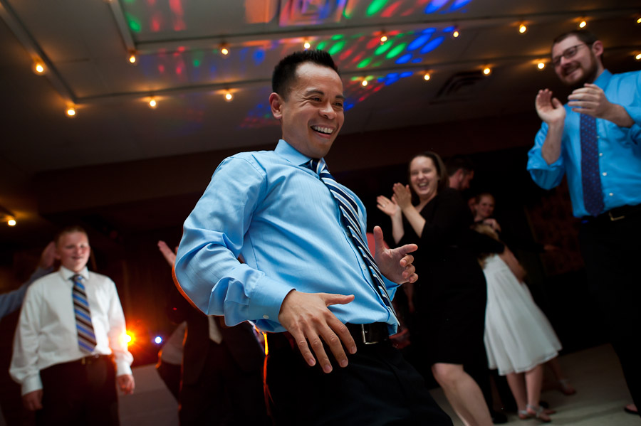 fun dancing photo from wedding