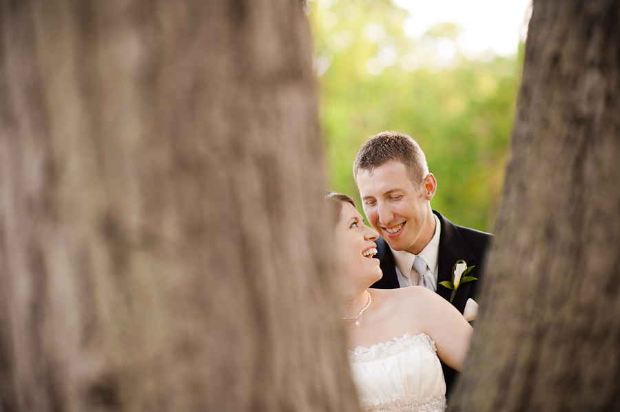 bride and groom portrait at ritz charles