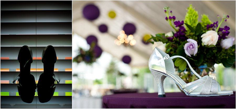 cool and colorful wedding shoe shots