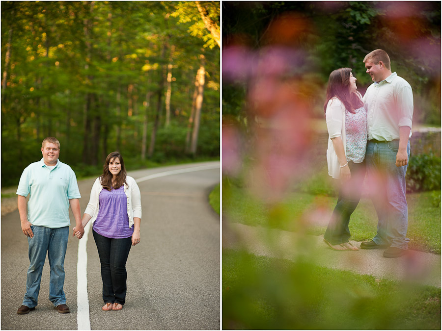 colorful engagement photography at spring mill state park