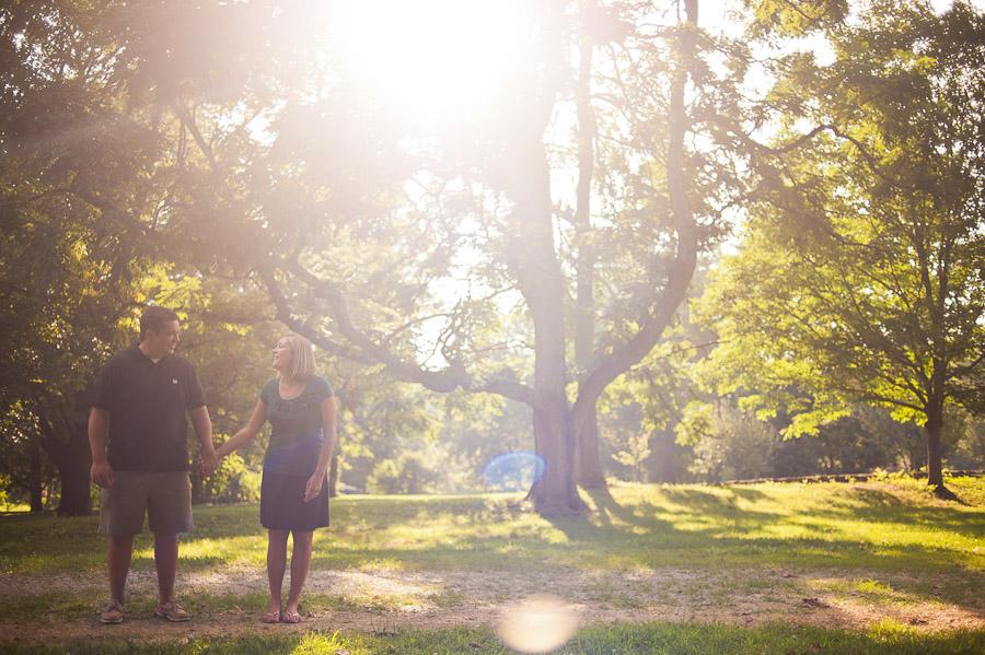 sunny day at locust grove