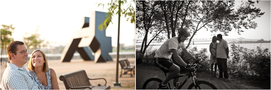 engagement session at waterfront park in louisville