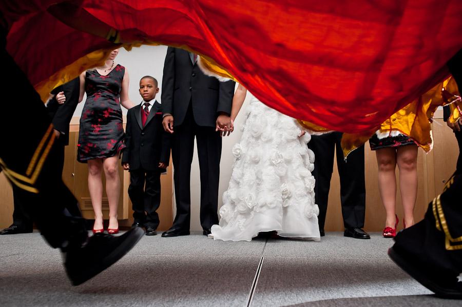 Chinese Lion at Wedding at JMU in Harrisonburg, VA