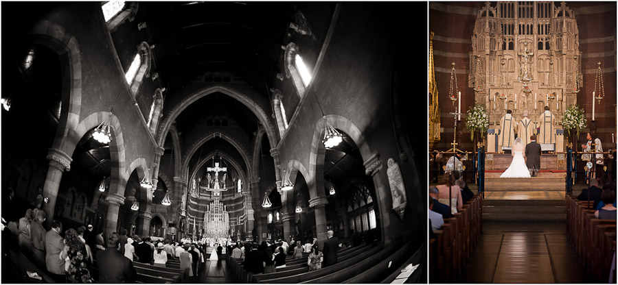 wedding photos at boston's church of the advent