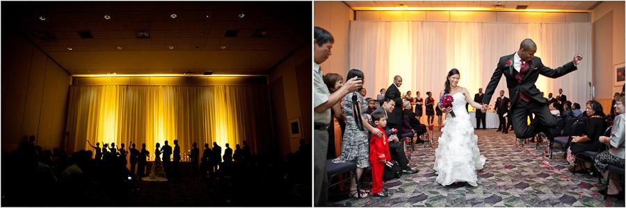 wedding ceremony photos from Ballroom at JMU in harrisonburg virginia