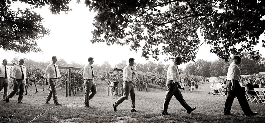 wedding shot like Abbey Road