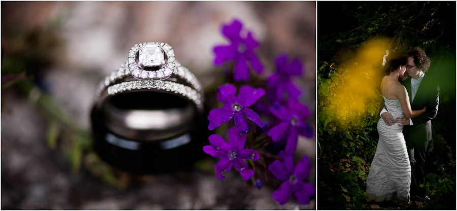 moody ring and bride and groom portraits