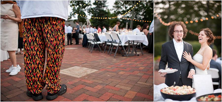sweet pants at wedding