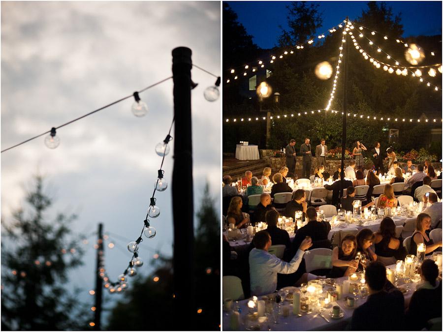 cool wedding outdoor lighting