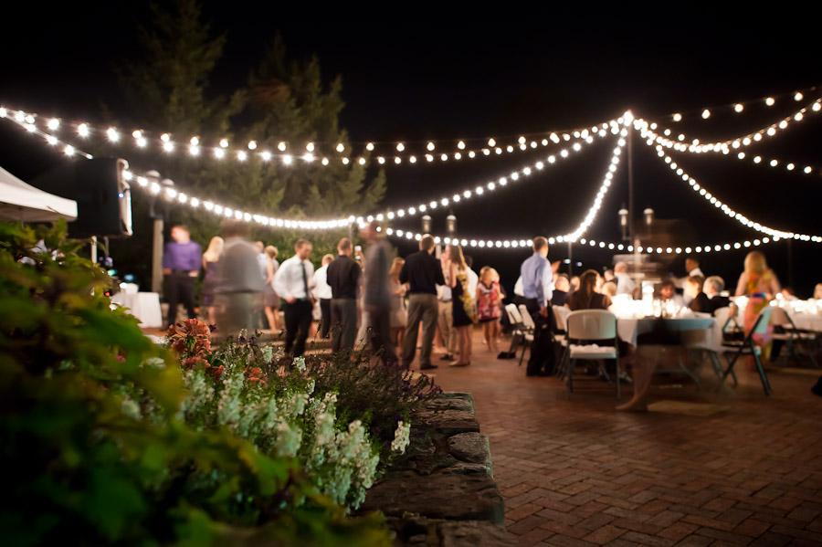 long exposure at night wedding reception