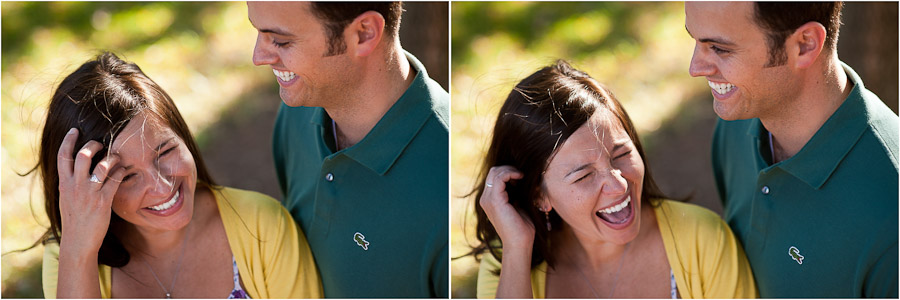 Fun and Colorful Casual Charlottesville Engagement Photo
