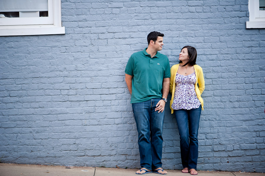 Classic Charlottesville Engagement Photo