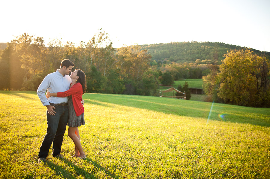 beautiful scenic virginia hilly engagement photography