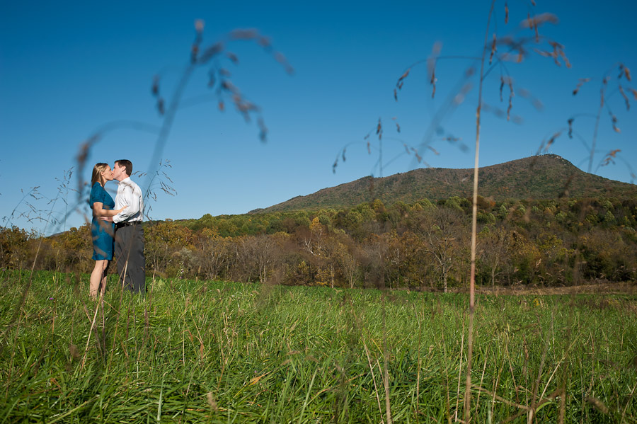 Massanutten Mountain Engagement Photo