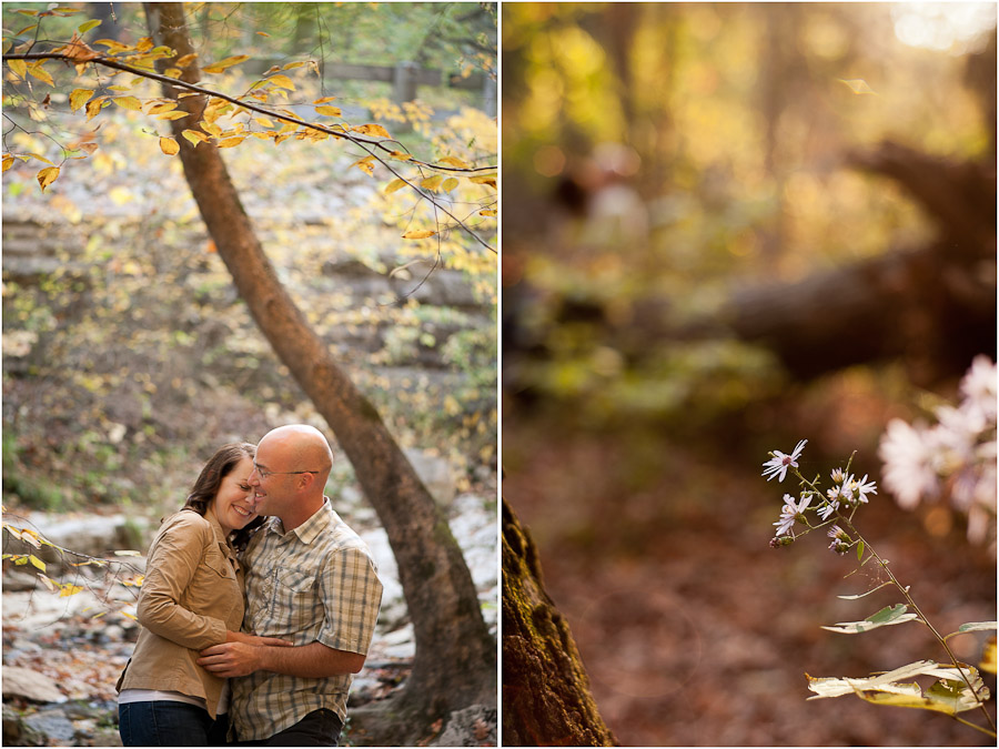 McCormick's Creek State Park Indiana Engagement Photography