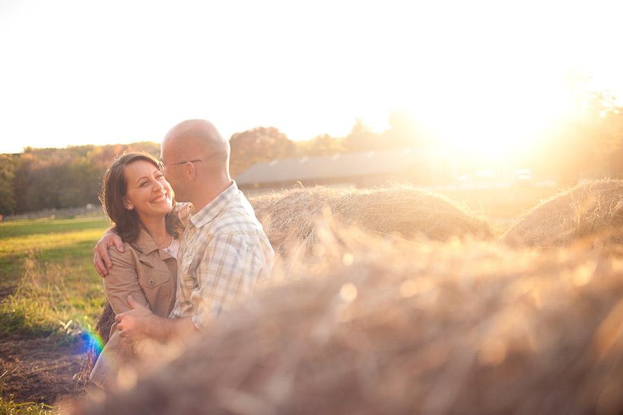 Beautiful Indiana Sunset Engagement Photos