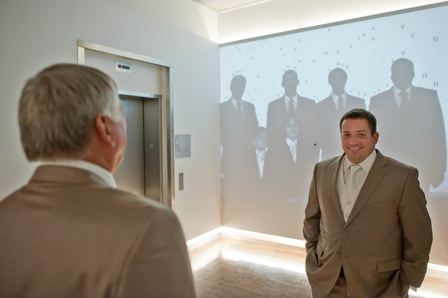 digital image of groomsmen portrait at 21c museum hotel