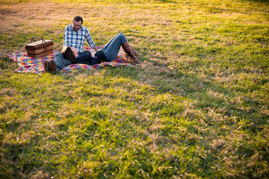 Relaxed outdoor Indiana engagement photo