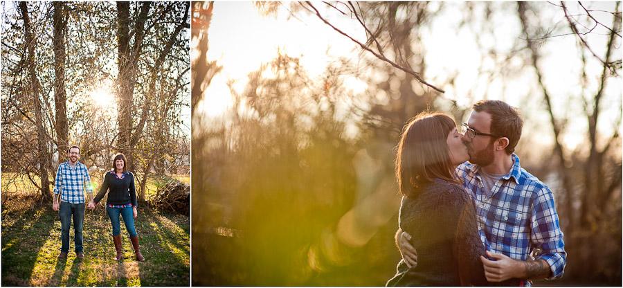 Fun Bloomington outdoor engagement photography