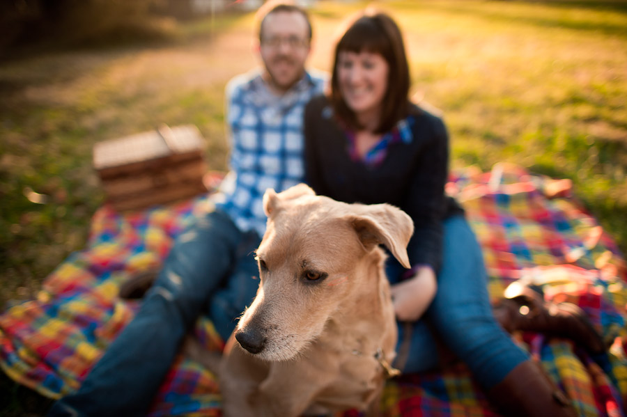Bloomington engagement photography with dog