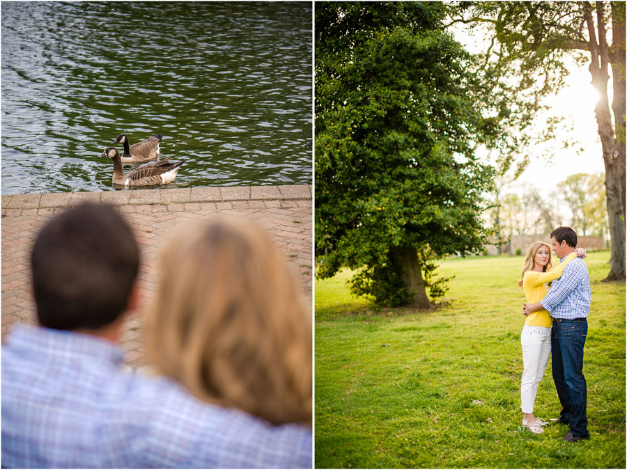 Beautiful Engagement Photos in Byrd Park, Richmond Virginia