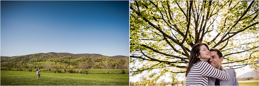 Engagement photos at King Family Vineyards in Crozet, VA