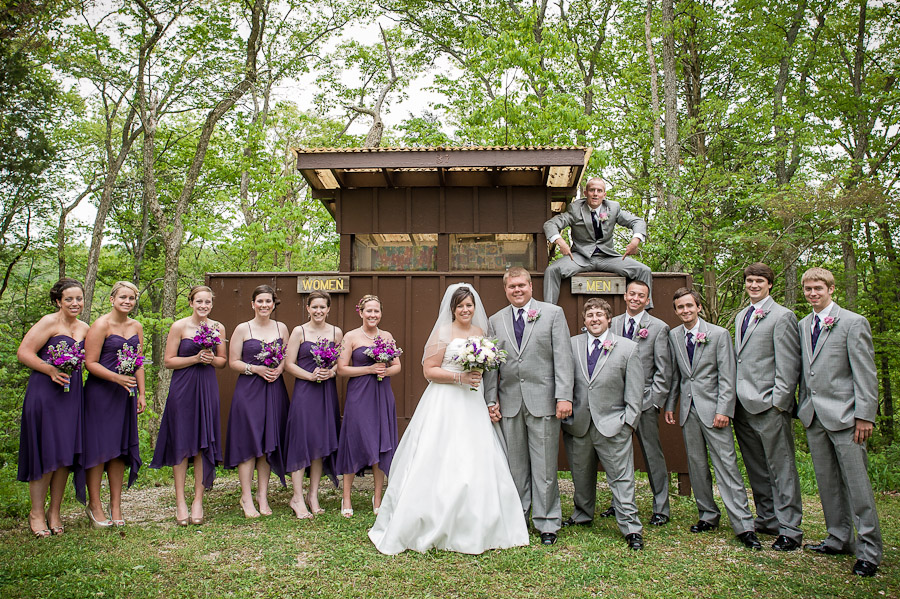 Funny formal bridal party photo