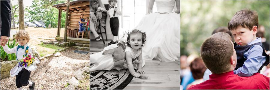 Funny kids at wedding