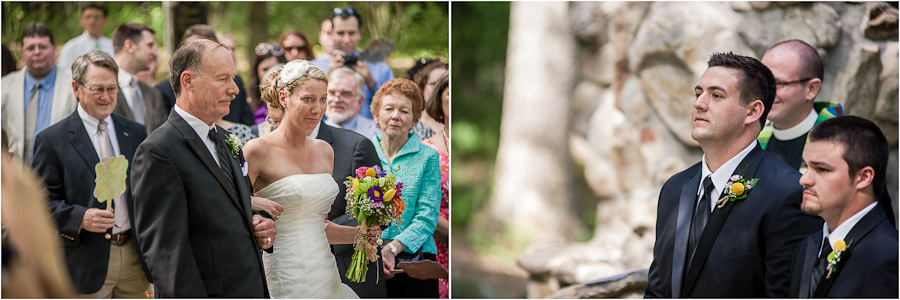 Emotional first glances at wedding ceremony
