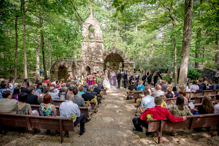 Outdoor wedding at Shrine Mont in Orkney Springs Virginia