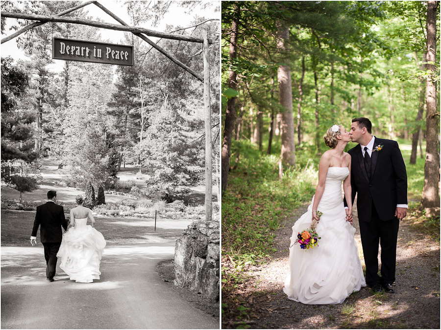 Casual and formal wedding portraits