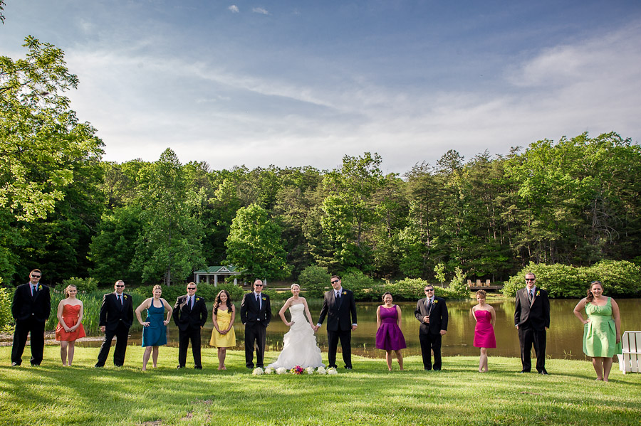 Colorful Wedding Bridal Party
