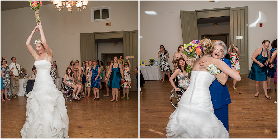 Funny bouquet toss result!