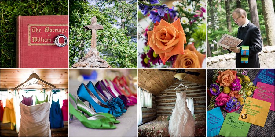 Colorful Wedding Details