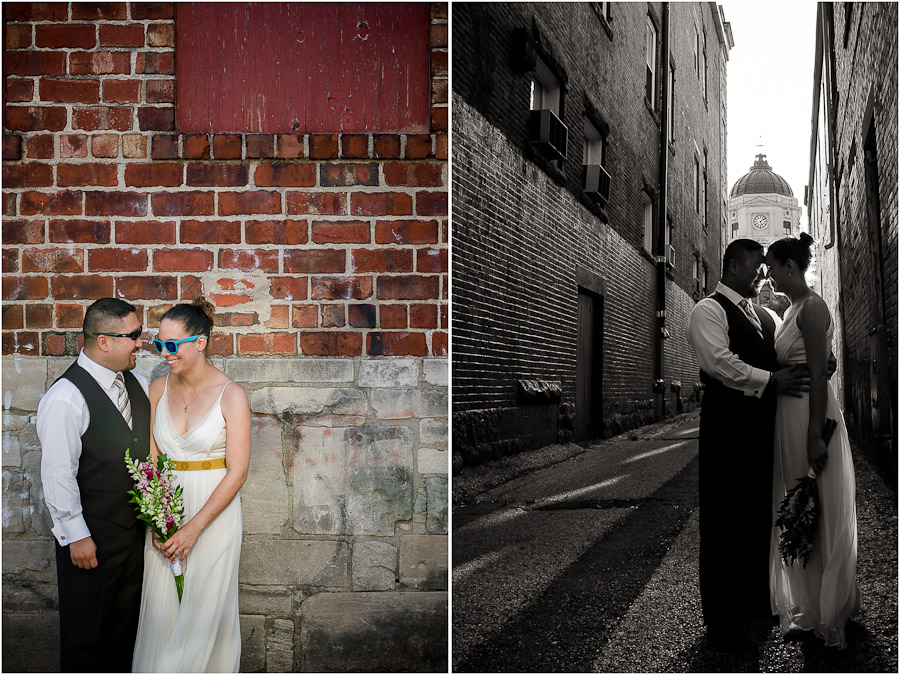 Downtown Bloomington Wedding Photography portraits