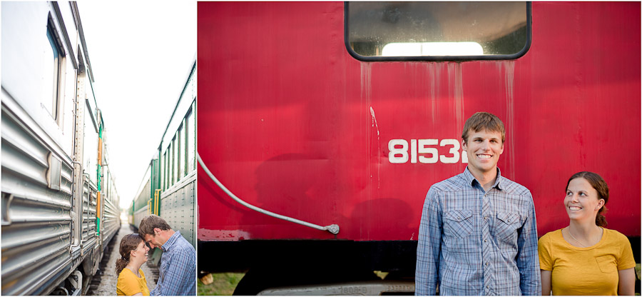Engagement Photos with Trains at French Lick, IN
