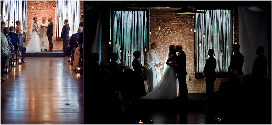 Factory 12 Event Loft wedding ceremony photos