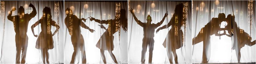 Funny creative wedding silhouette portraits
